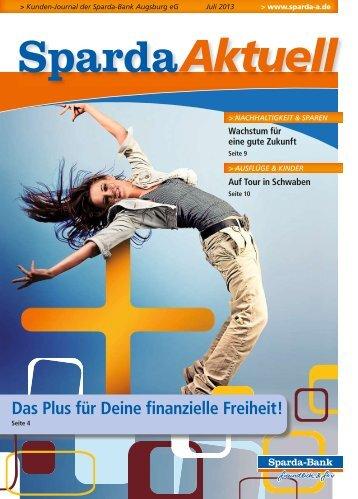 Ausgabe Juli 2013 - Sparda-Bank Augsburg eG