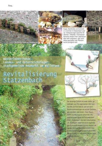 WasSerleben-Fonds fördert Projekte an ... - Naturschutzbund