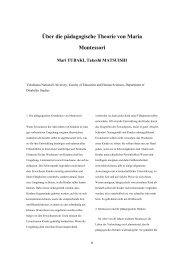 Über die pädagogische Theorie von Maria Montessori - Journal of ...