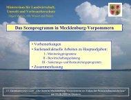 Das Seenprogramm in Mecklenburg-Vorpommern