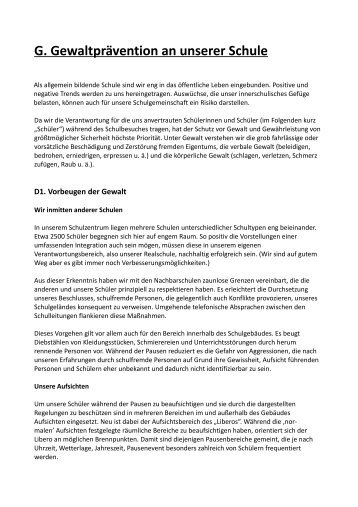 G. Gewaltprävention an unserer Schule - Realschule I Buchholz