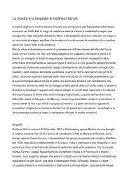 La mostra e la biografia di Gotthard Schuh - Udine Cultura