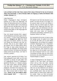 Predigt über Epheser 1, 3; 1. Sonntag nach ... - Ispringen.elkib.de