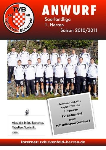 Saarlandliga 1. Herren Saison 2010/2011 - TV Birkenfeld Handball