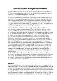 Geschichte des Pflegekinderwesens - Pflegekinder-Aktion Schweiz
