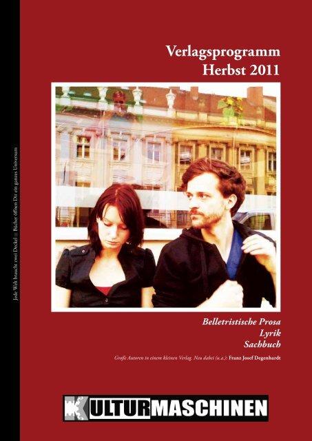 Verlagsprogramm Herbst 2011 - Achim Kleine Verlagsvertretung NRW