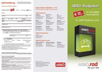 zum Download - ARBÖ Rad Startseite