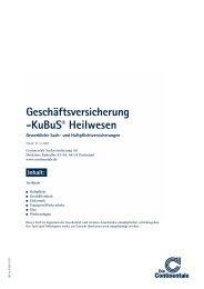 Geschäftsversicherung -KuBuS® Heilwesen - Continentale