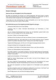 Unsere Leistungen - Ferienhaus-liste.de