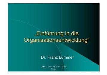 Einführung in die Organisationsentwicklung