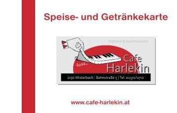 Speise- und Getränkekarte - Cafe Harlekin