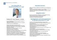 Ihr Orthopäde am Brüderkrankenhaus St. Josef Professor Dr. med ...