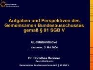 Gemeinsamer Bundesausschuss - Qualitätsinitiative