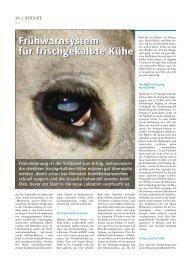 Frühwarnsystem für frischgekalbte Kühe ... - Swissgenetics