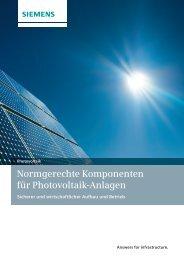 Normgerechte Komponenten für Photovoltaik-Anlagen - Siemens ...