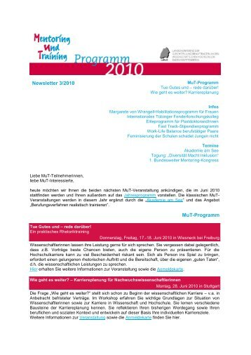 MuT-Newsletter Nr. 3 2010 (pdf) - LaKoG
