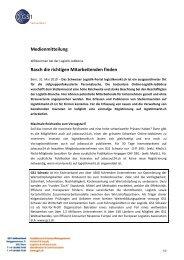 Medienmitteilung Rasch die richtigen Mitarbeitenden finden - GS1