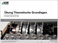 Übung Theoretische Grundlagen - Berechenbarkeit ... - IKS - KIT