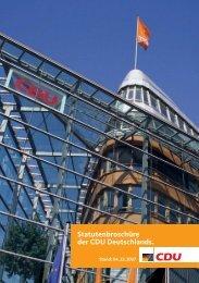 Die Satzung der CDU mit Finanz- und Beitrags - Wahlkreis 300