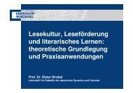 Lesekultur, Leseförderung und literarisches Lernen: theoretische ...