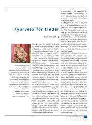Ayurveda für Kinder - Ayurveda Gesundheits