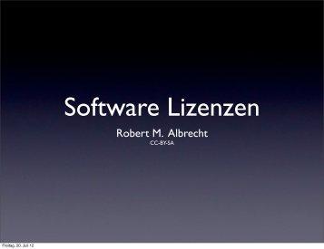 Gesellschaft für Informatik: Freie und offene Softwarelizenzen