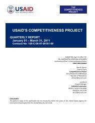 USAID'S COMPETITIVENESS PROJECT - USAID Macedonia