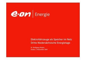 Elektrofahrzeuge als Speicher im Netz Dritte Niedersächsische ...