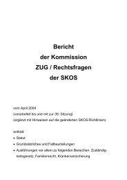 Bericht der Kommission ZUG / Rechtsfragen der SKOS