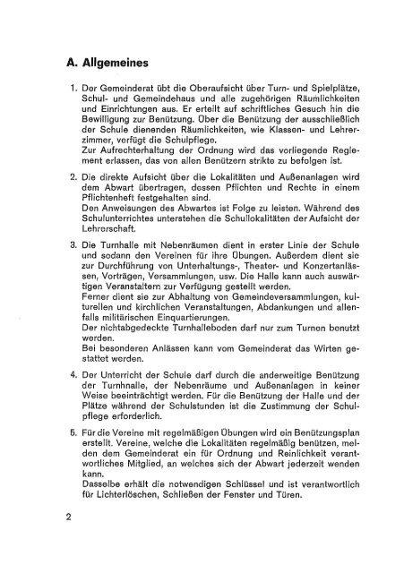 Reglement für die Benutzung der ... - Gemeinde Hallwil