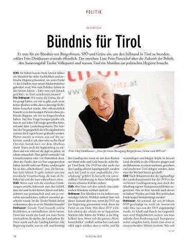 Bündnis für tirol - Liste Fritz