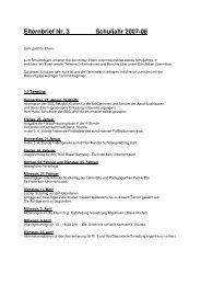 Elternbrief Nr. 3 Schuljahr 2007-08 - Hermann-Gmeiner-Schule