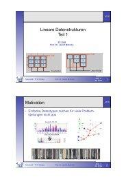 Lineare Datenstrukturen Teil 1 Motivation - Telematik TH Wildau