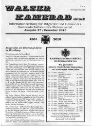 aktuell - beim Kameradschaftsbund Kleinwalsertal.