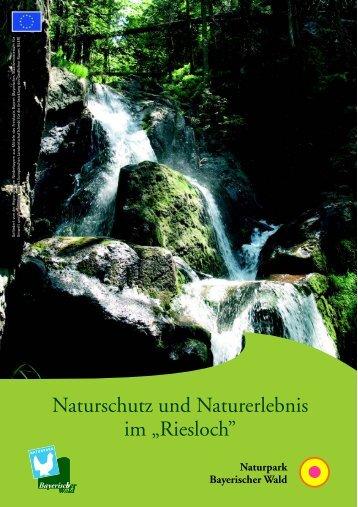 """Rieslochbroschüre """"Naturschutz und Naturerlebnis im Riesloch"""""""