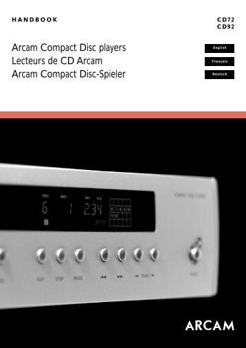 Arcam Compact Disc players Lecteurs de CD Arcam ... - Aerne Menu
