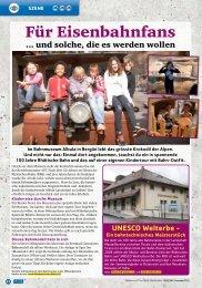 Spick: Für Eisenbahnfans (15.12.2012) - Bahnmuseum Albula