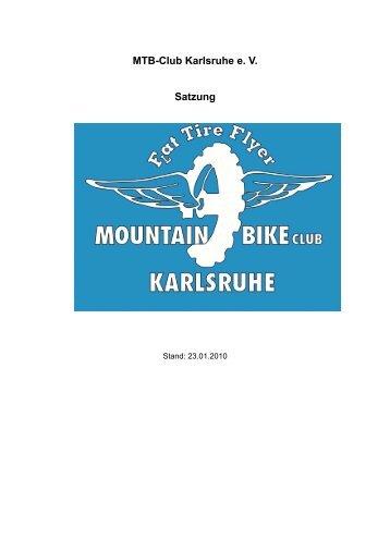 MTB-Club Karlsruhe e. V. Satzung - Mountainbike Club Karlsruhe