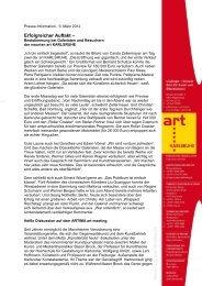 Die Pressemitteilung zum Download - art KARLSRUHE