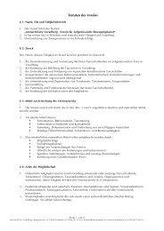 Statuten des Vereins - netzwerktanz