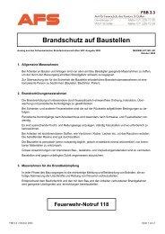 FSB 3.3 - Merkblatt 501 (Brandschutz auf Baustellen)