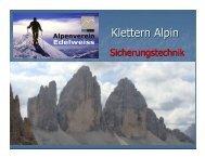 Klettern Alpin - Klettern mit Alois