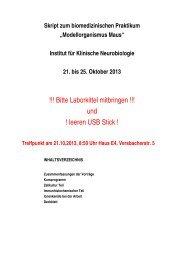 Download Praktikumsskript - Institut für Klinische Neurobiologie