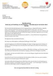 Beschlussantrag - Südtiroler Landtag