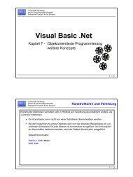 Visual Basic .Net - Institut für Wirtschaftsinformatik - Universität ...