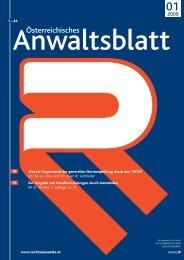 Anwaltsblatt 2009/01 - Österreichischer Rechtsanwaltskammertag