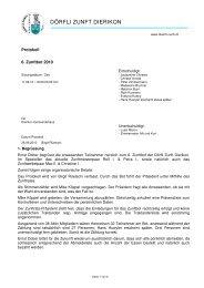 Protokoll-Zunftbot 2010 - Dörfli-Zunft,Dierikon