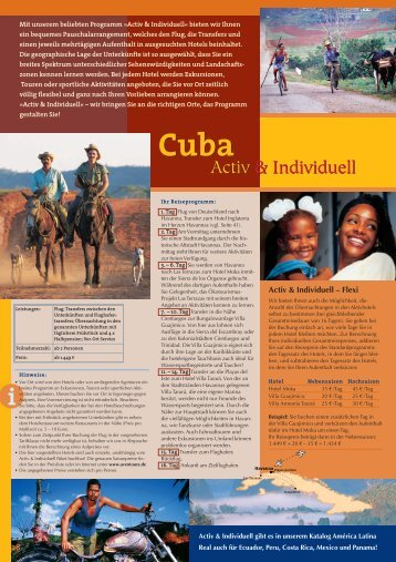 Cuba Activ & Individuell (pdf 672 KB) - travel and fun