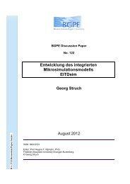 Entwicklung des integrierten Mikrosimulationsmodells EITDsim