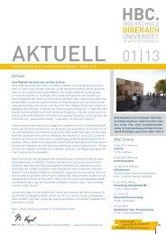 hbc aktuell 1/13 - Hochschule Biberach